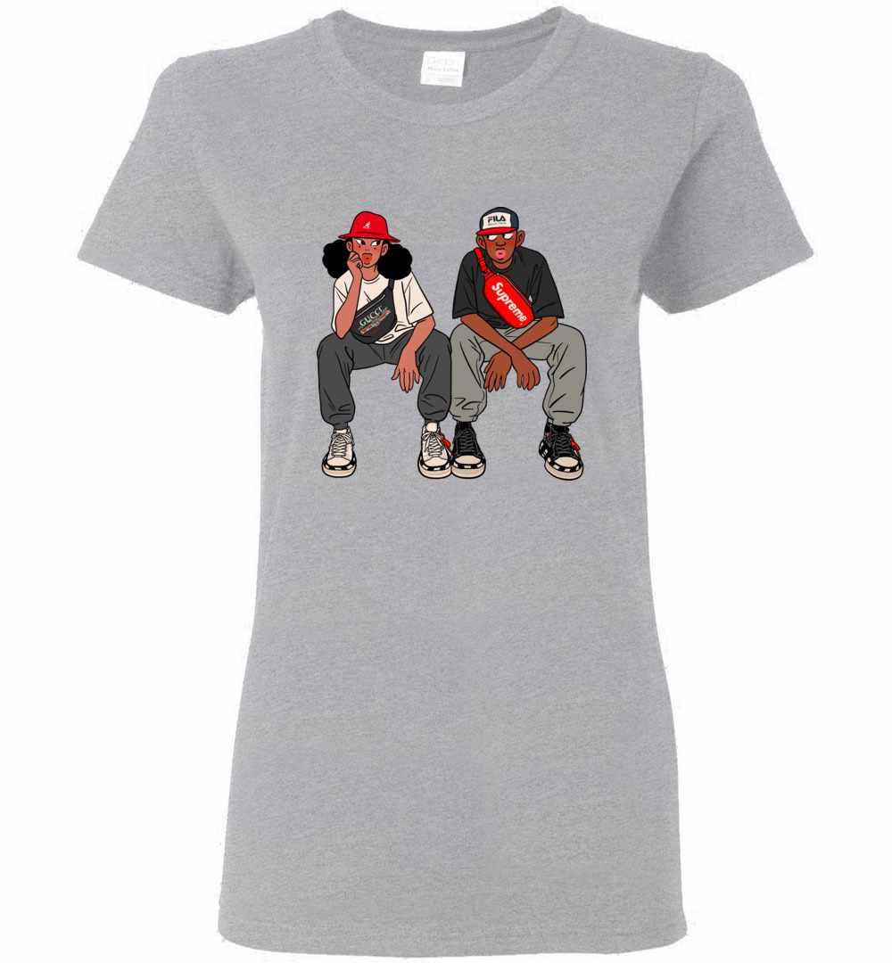86e367f7 Fila X Gucci X Supreme Women's T shirt Amazon Best Seller