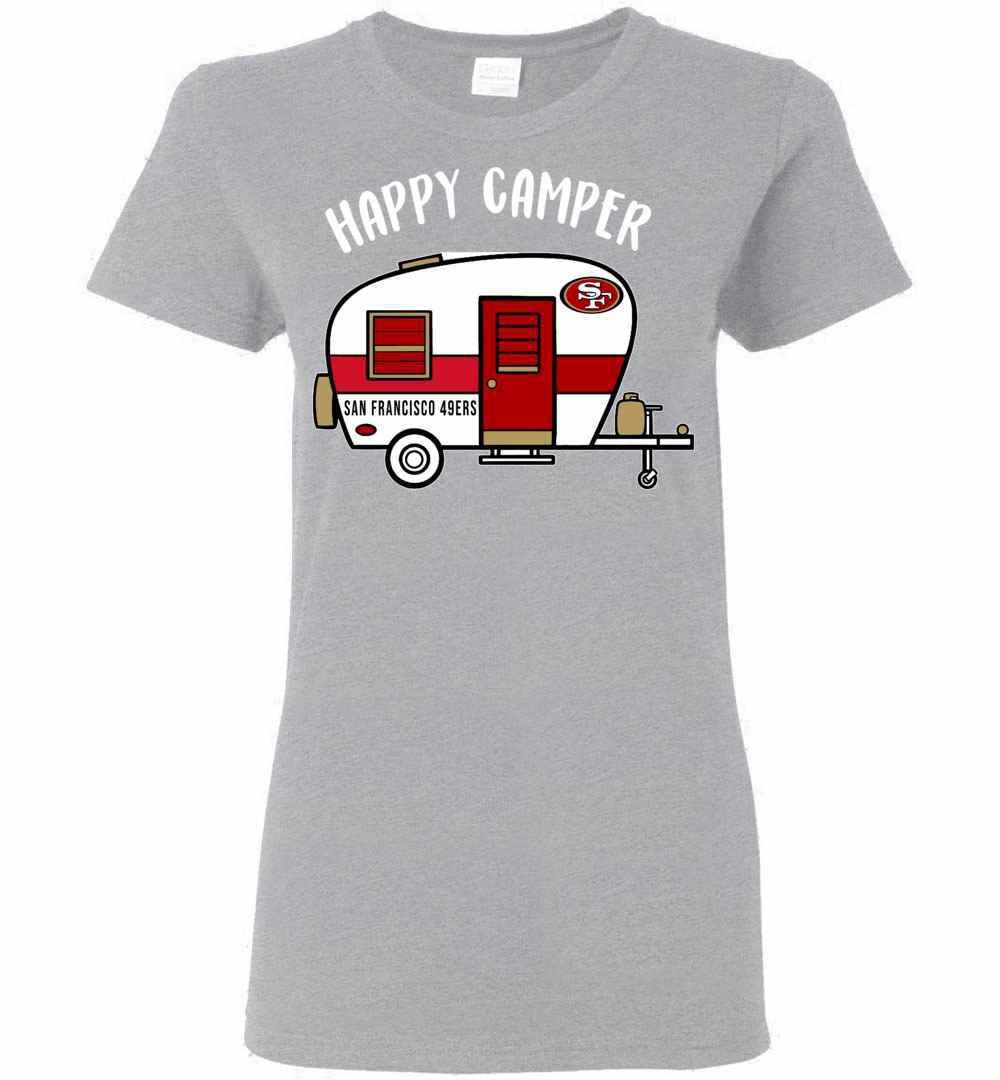 best website 0f807 4fdf1 San Francisco 49ers Happy Camper Women's T-shirt