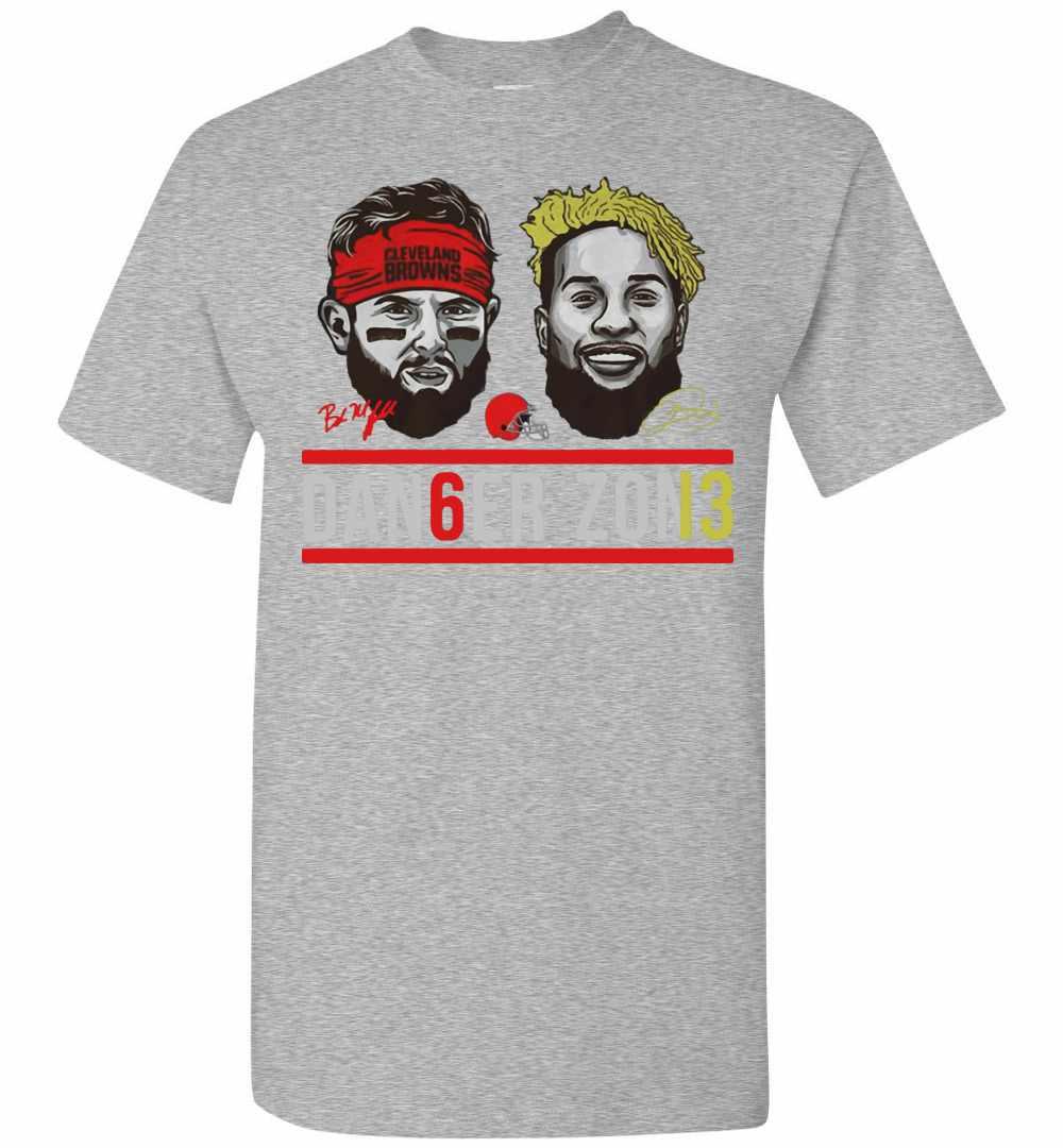 sale retailer 214e0 95f16 Cleveland Browns Baker Mayfield And Odell Beckham Jr Men's T-shirt