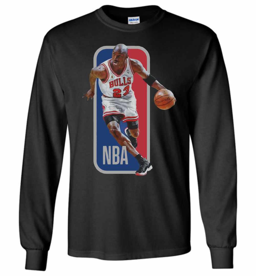huge discount 9fe1f 542cb Michael Jordan Nba Chicago Bulls Basketball Long Sleeve T-shirt