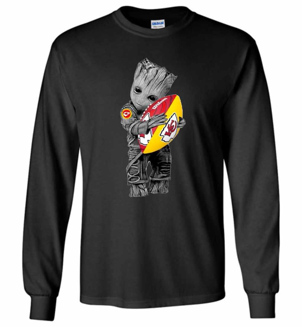 pretty nice 4f468 5cb95 Baby Groot Hug Kansas City Chiefs Long Sleeve T-shirt