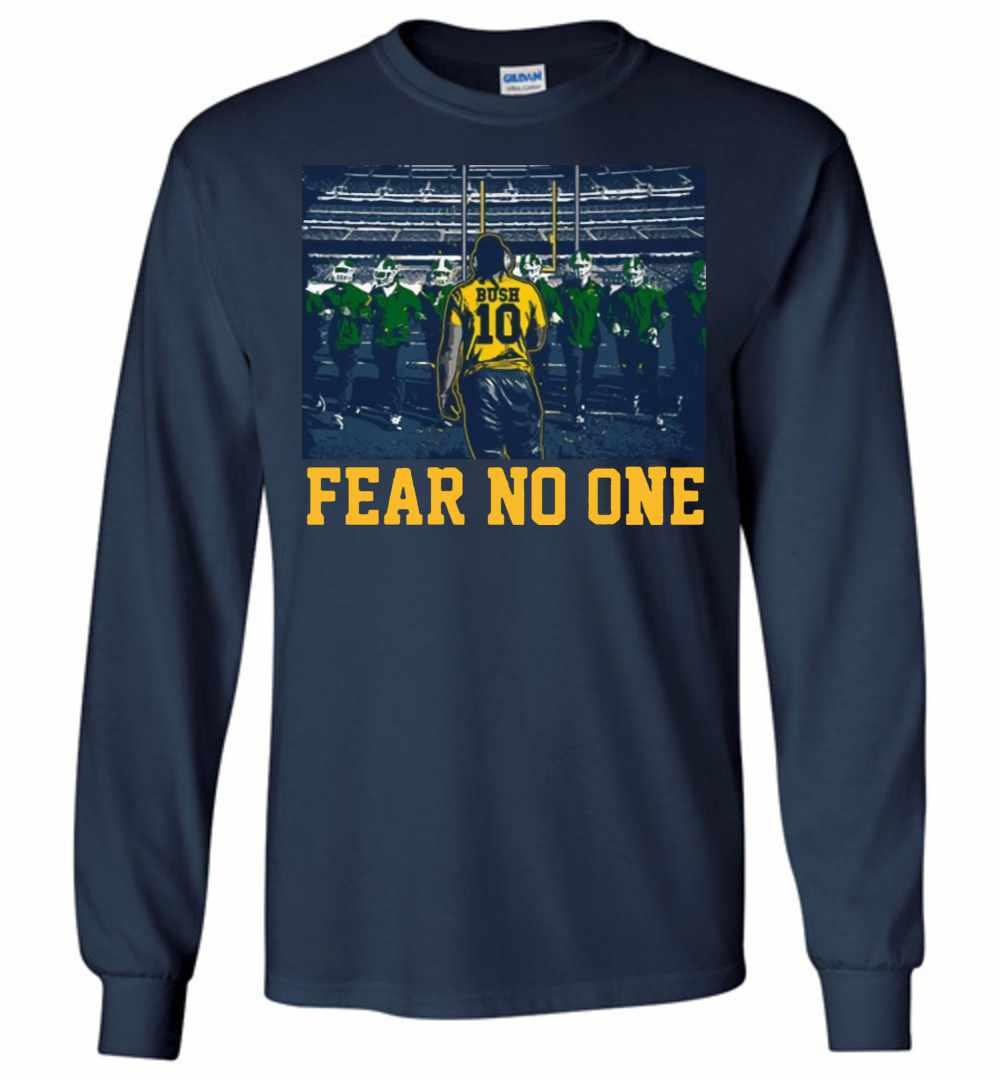 087b58779811b Devin Bush 10 Fear No One Shitr Long Sleeve T shirt Amazon Best Seller