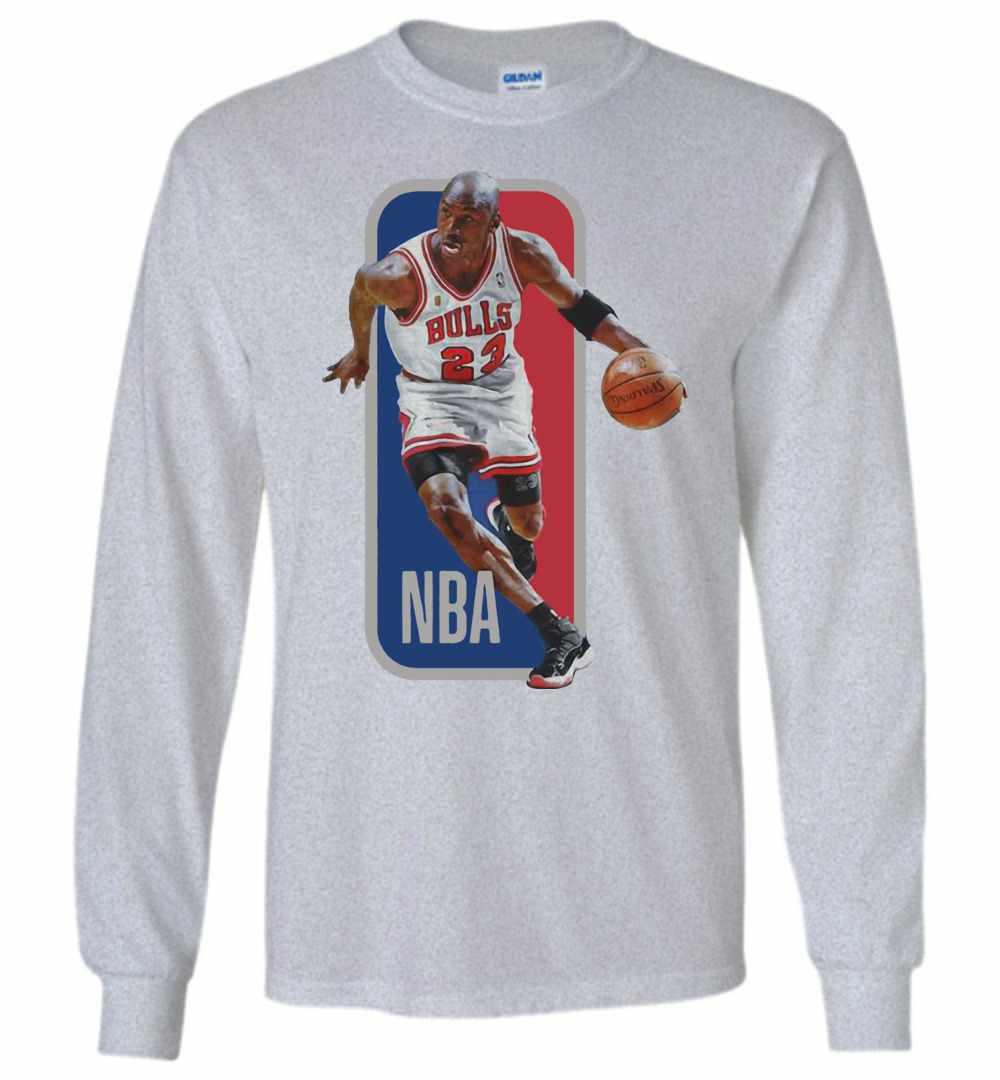 huge discount cf74e 1ea6f Michael Jordan Nba Chicago Bulls Basketball Long Sleeve T-shirt