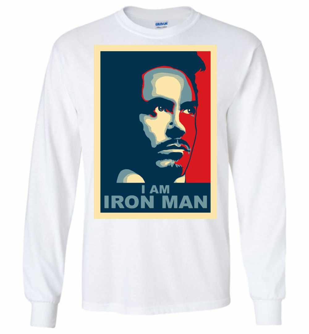7afd568f Tony Stark I Am Iron Man Long Sleeve T-shirt