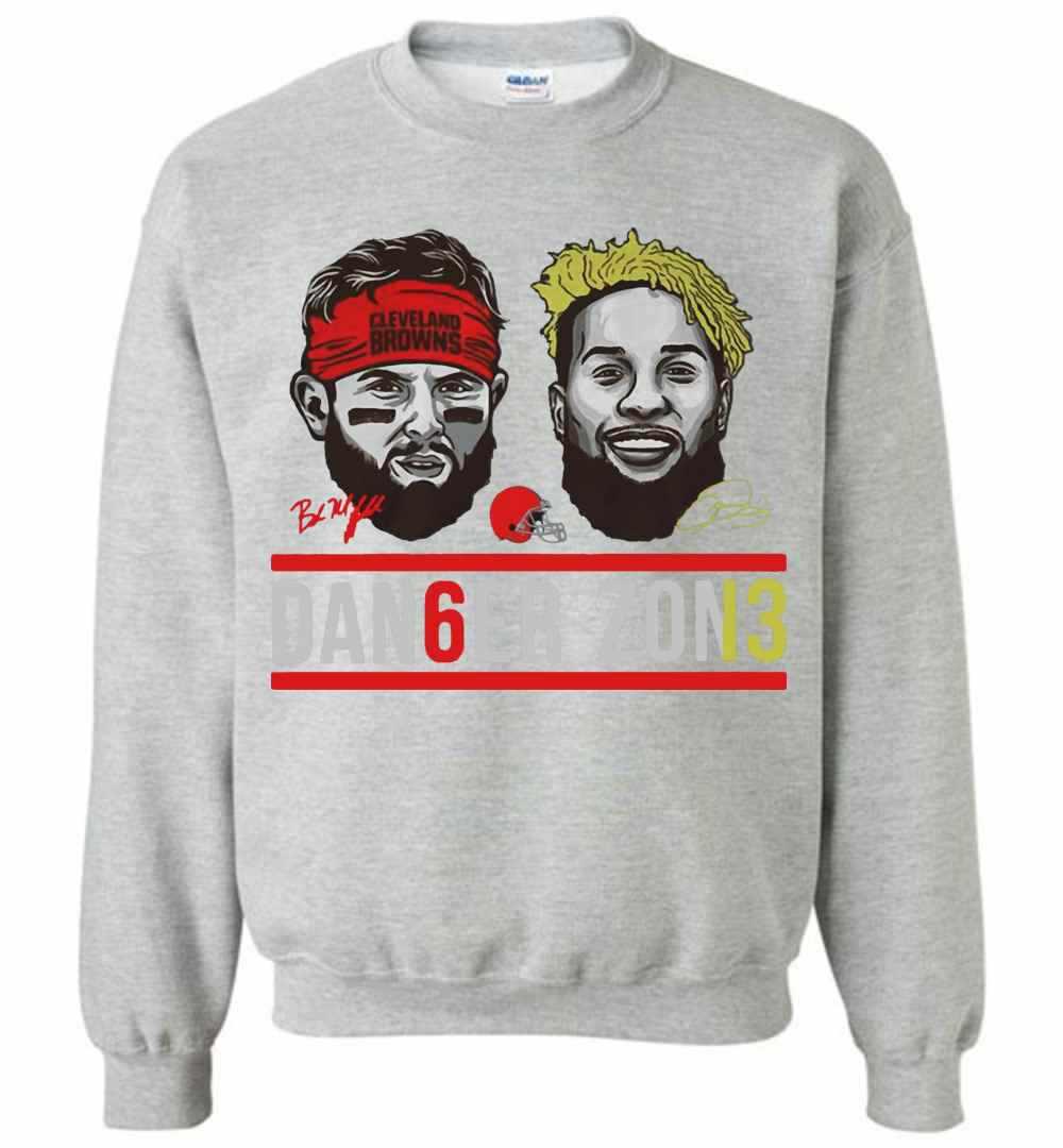 newest 8f592 61b03 Cleveland Browns Baker Mayfield And Odell Beckham Jr Dan6er Sweatshirt