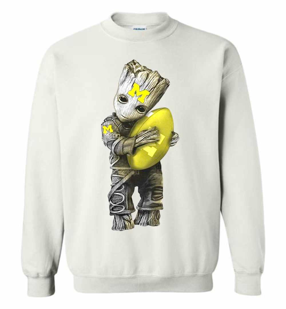 super popular 2b7d4 bbfdb Baby Groot Hugs Michigan Wolverines Football Sweatshirt